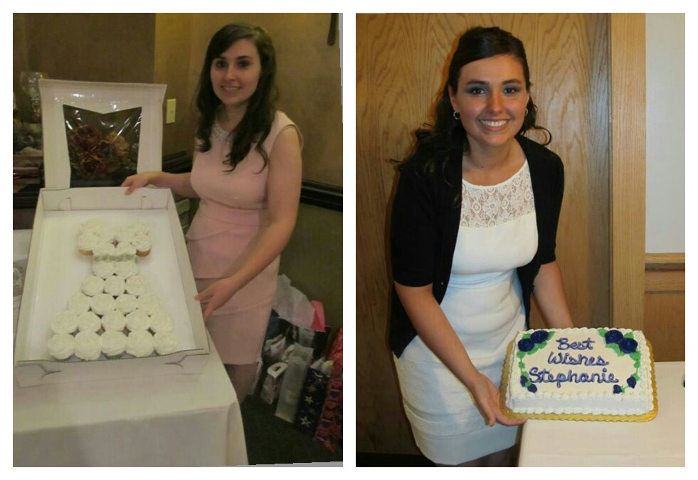 Left: bridal shower (8/11/13). Right: work bridal shower (9/22/13).