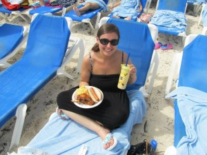 Barbecue Buffet on the beach in the Bahamas!