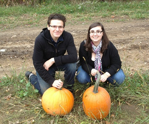Picking pumpkins in October 2012, our first Fall together!